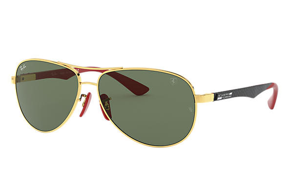 Ray-Ban 0RB8313M-RB8313M SCUDERIA FERRARI COLLECTION Gold; Black,Red SUN