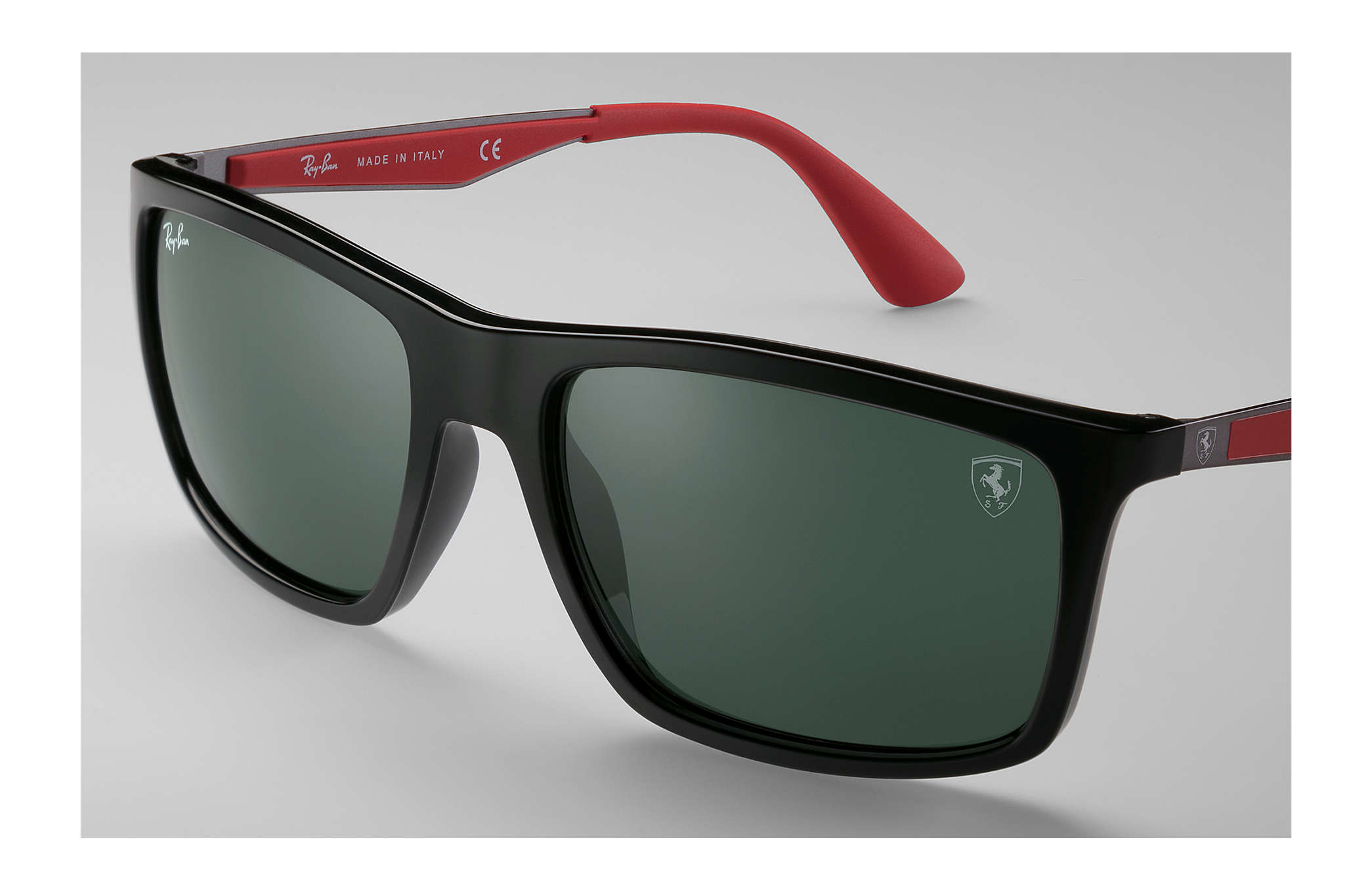 8c94d714fabf ... Ray-Ban 0RB4228M-RB4228M SCUDERIA FERRARI COLLECTION Black;  Gunmetal,Red SUN ...