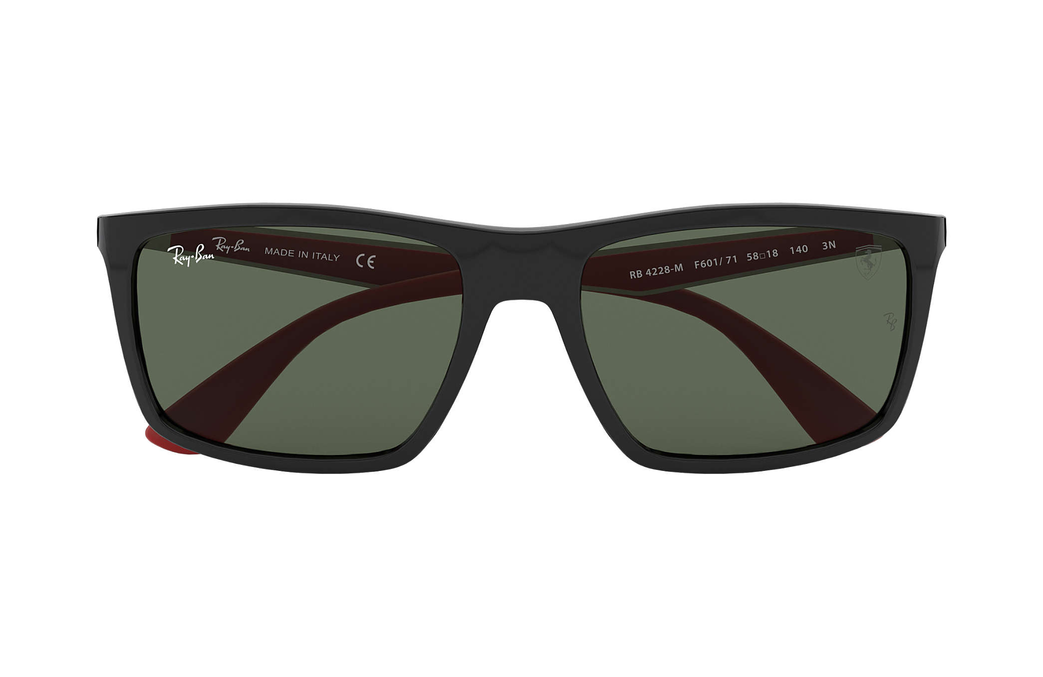 Ray-Ban Rb4228m Scuderia Ferrari Collection RB4228M Schwarz - Nylon ...