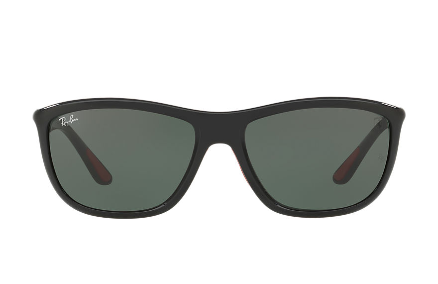 Ray-Ban Sunglasses RB8351M SCUDERIA FERRARI COLLECTION Black with Green Classic lens