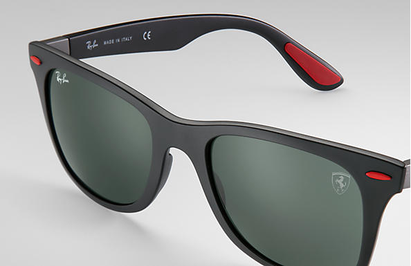 3134f5eb35 ... Ray-Ban 0RB4195M-RB4195M SCUDERIA FERRARI COLLECTION Black SUN ...