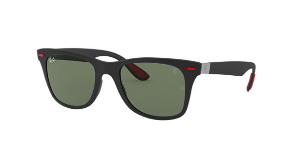 36eb566339 Ray-Ban Rb4195m Scuderia Ferrari Collection RB4195M Black - Liteforce -  Green Lenses - 0RB4195MF6027152