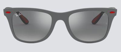 b9f34394e1b4f0 Ray-Ban RB4195M SCUDERIA FERRARI COLLECTION Grey with Grey Mirror lens