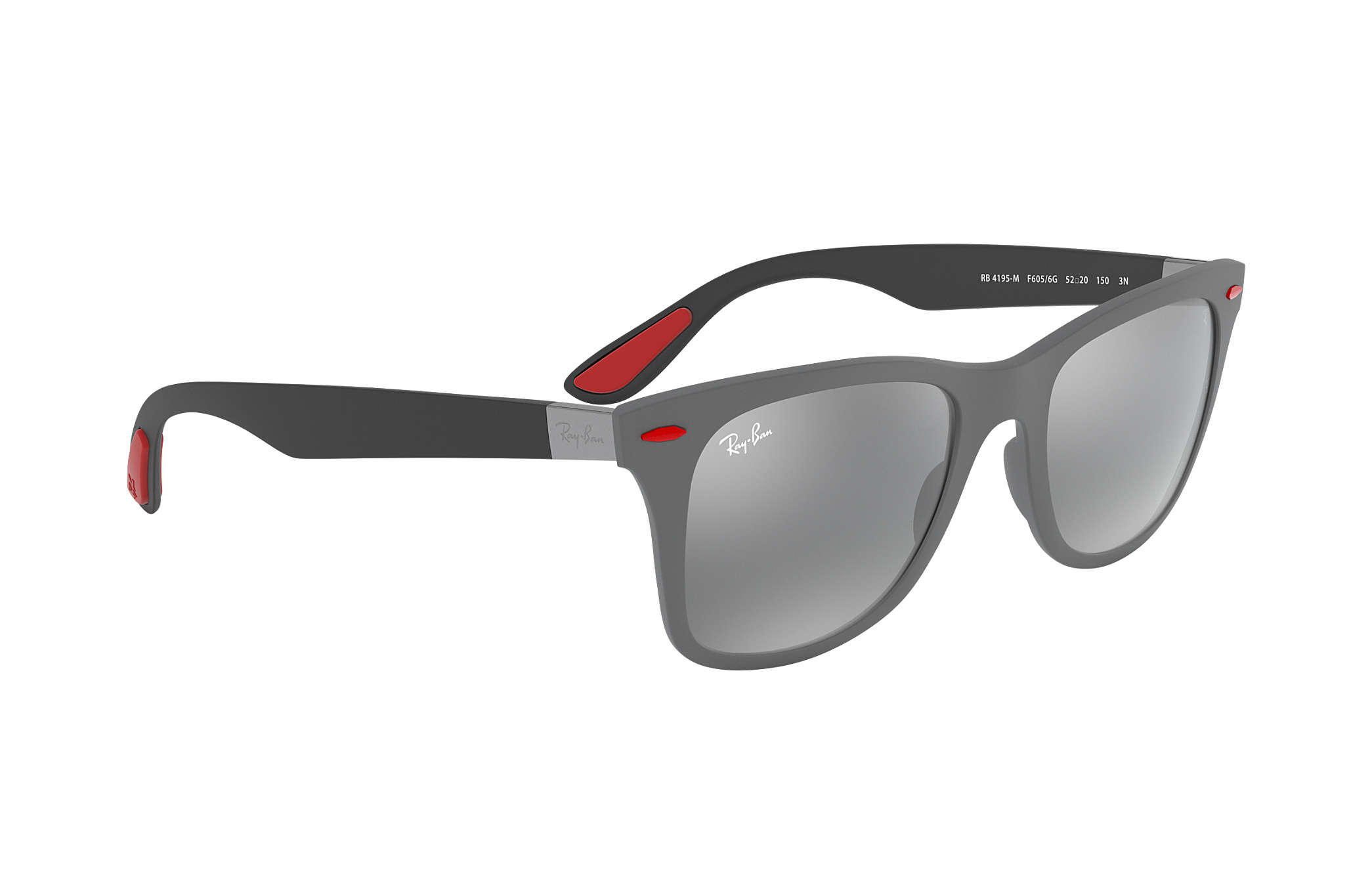 caa5076ace ... Ray-Ban 0RB4195M-RB4195M SCUDERIA FERRARI COLLECTION Grey  Black SUN ...