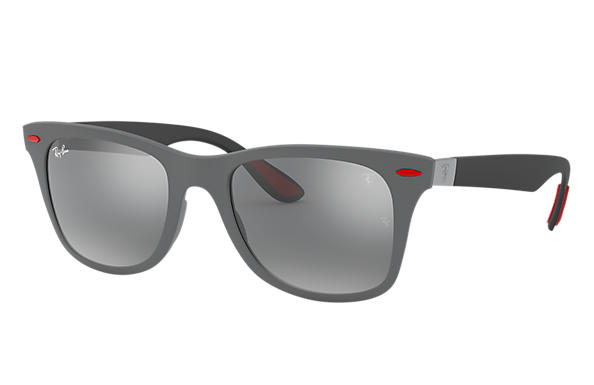 Ray-Ban 0RB4195M-RB4195M SCUDERIA FERRARI COLLECTION Grey; Black SUN