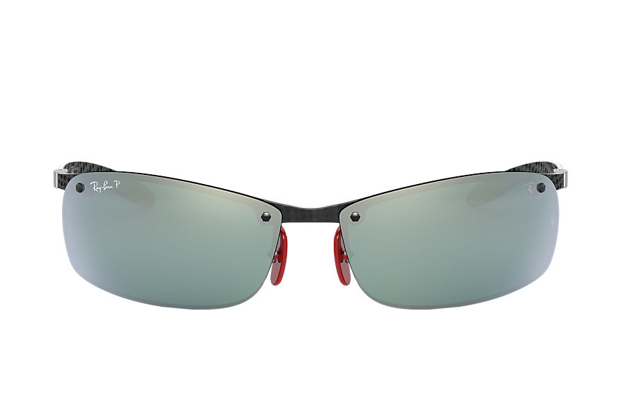 Ray-Ban RB8305M SCUDERIA FERRARI COLLECTION Negro con lente Plata Mirror Chromance