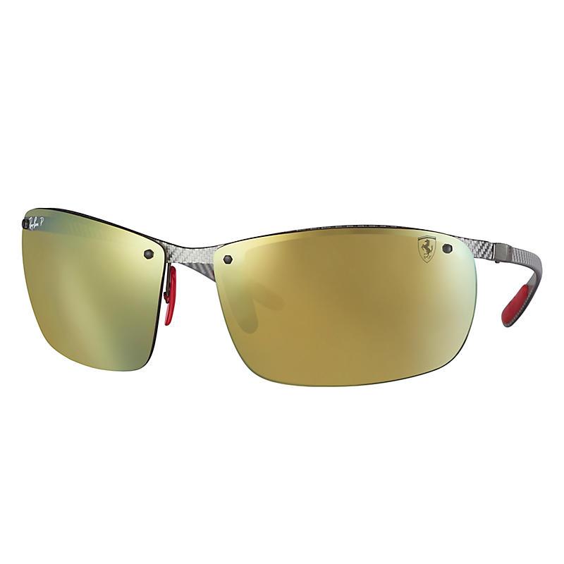 Ray-Ban Scuderia Ferrari Collection Grey Sunglasses, Polarized