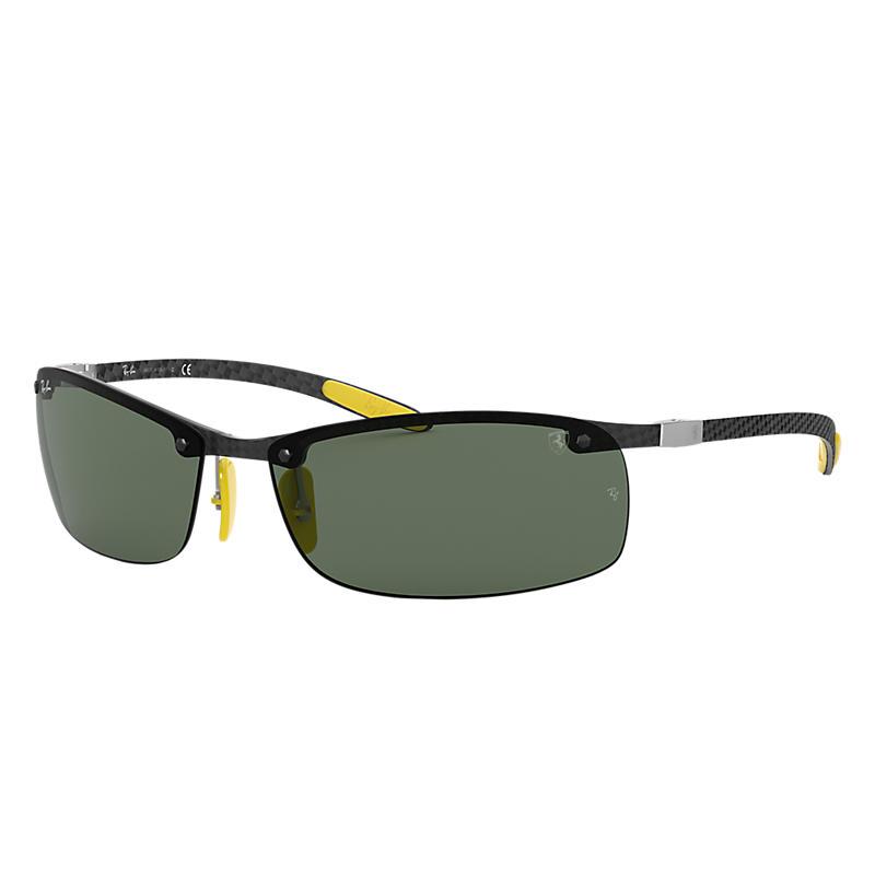 Ray-Ban RB8305M Scuderia Ferrari Wrap Sunglasses
