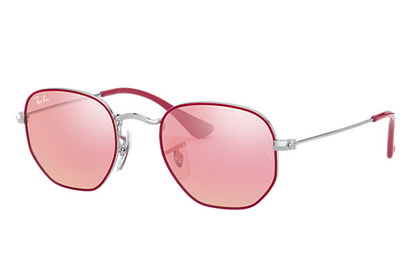 Ray-Ban 0RJ9541SN-HEXAGONAL JUNIOR Purple-Reddish,Silver; Silver SUN