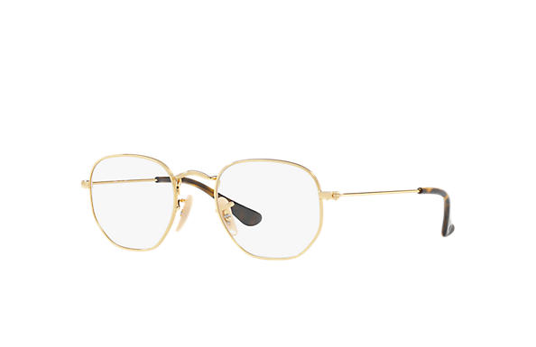 e9427966a16 Ray-Ban prescription glasses Hexagonal Junior Optics RY9541V Gold - Metal -  0RY9541V405142