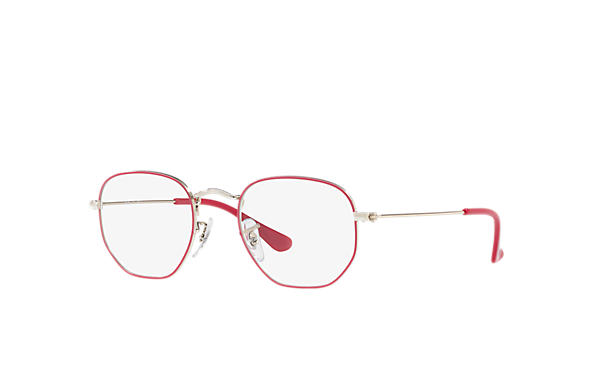 Ray-Ban 0RY9541V-HEXAGONAL JUNIOR OPTICS Viola-Rosso,Argento; Argento OPTICAL