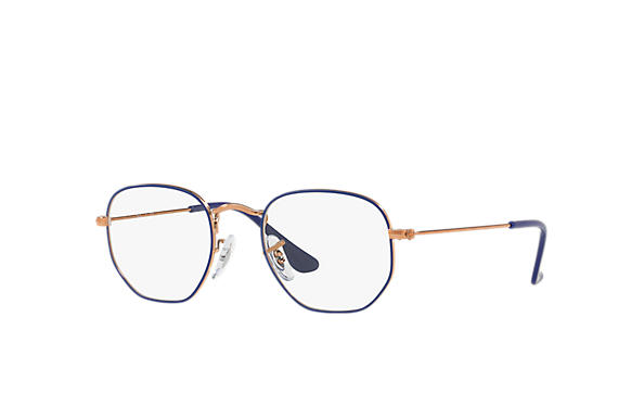 Ray-Ban 0RY9541V-HEXAGONAL JUNIOR OPTICS Blau,Bronze-Kupfer; Bronze-Kupfer OPTICAL