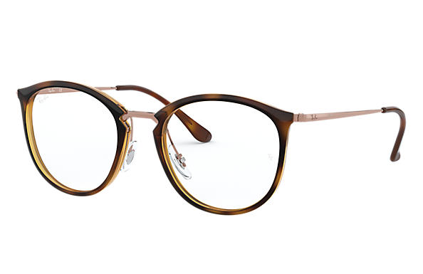 Ray-Ban 0RX7140-RB7140 Tortoise; Bronze-Copper OPTICAL