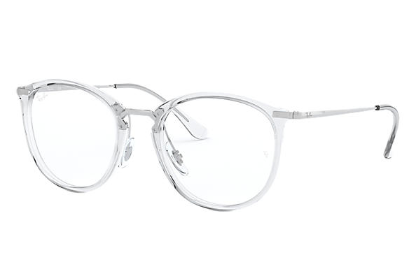 Ray-Ban 0RX7140-RB7140 Transparent; Silver OPTICAL