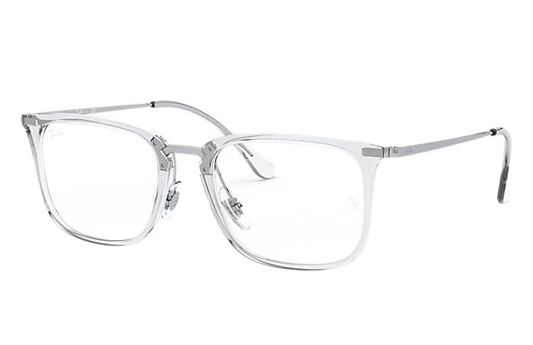 Ray-Ban 0RX7141-RB7141 Transparent; Silver OPTICAL