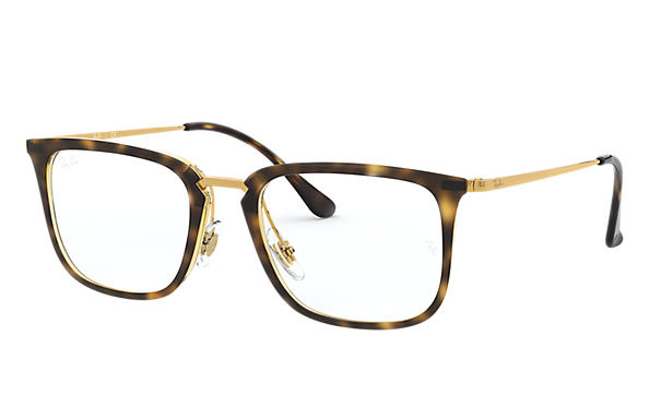 Ray-Ban 0RX7141-RB7141 Havane; Or OPTICAL