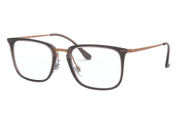 Ray-Ban 0RX7141-RB7141 Gris; Bronze-cuivre OPTICAL