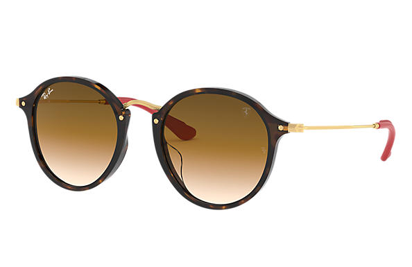 6708c9c360e Ray-Ban 0RB2447MF-RB2447MF SCUDERIA FERRARI COLLECTION Tortoise  Gold SUN