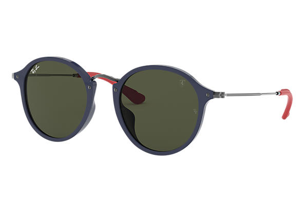 Ray-Ban Sunglasses RB2447MF SCUDERIA FERRARI COLLECTION Black with Light Blue Gradient lens