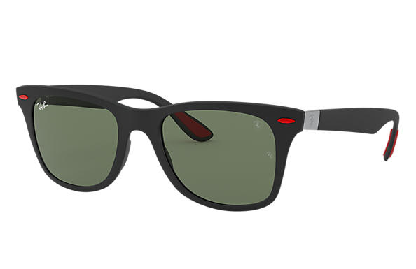 Ray-Ban Sunglasses SCUDERIA FERRARI COLLECTION RB4195MF Black with Silver Mirror Chromance lens