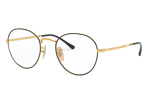 Ray-Ban 0RX3582V-ROUND METAL OPTICS II Schwarz,Gold; Gold OPTICAL