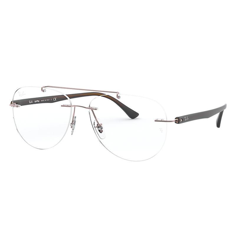 Image of Ray-Ban Brown Eyeglasses - Rb8749