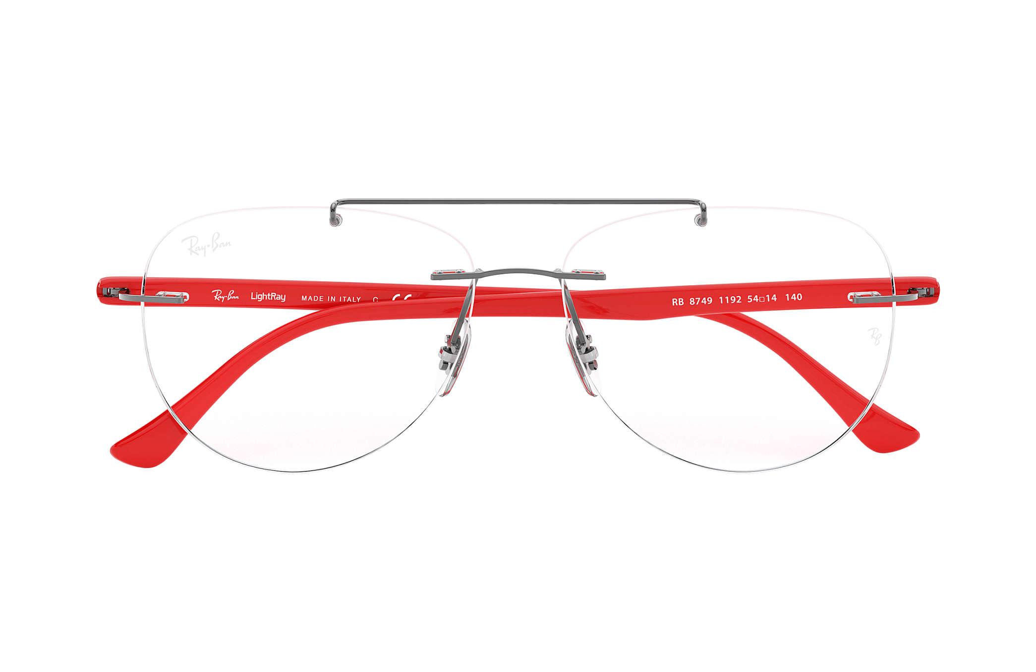 b188360bd4c Ray-Ban prescription glasses RB8749 Gunmetal - Titanium ...