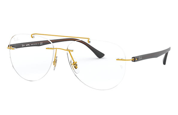 Ray-Ban 0RX8749-RB8749 Gold; Braun OPTICAL