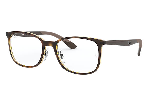 Ray-Ban 0RX7142-RB7142 Tortoise; Brown OPTICAL