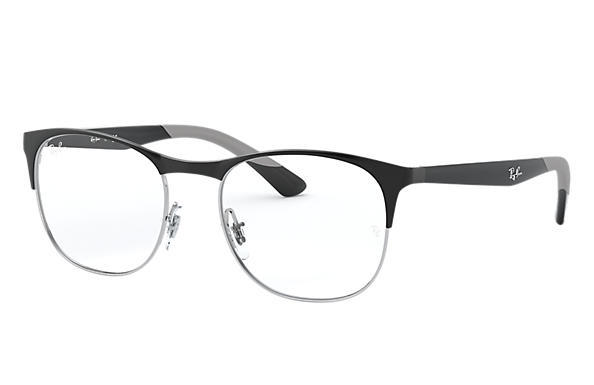 Ray-Ban 0RX6412-RB6412 Black,Silver; Black OPTICAL