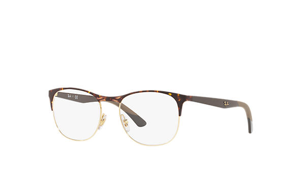 Ray-Ban 0RX6412-RB6412 Havane,Or; Marron OPTICAL