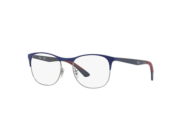 Ray-Ban 0RX6412-RB6412 Blau,Gunmetal; Blau OPTICAL