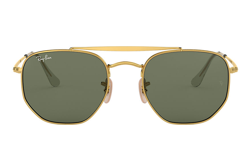 Ray-Ban Sunglasses MARSHAL Gold with Green Classic G-15 lens