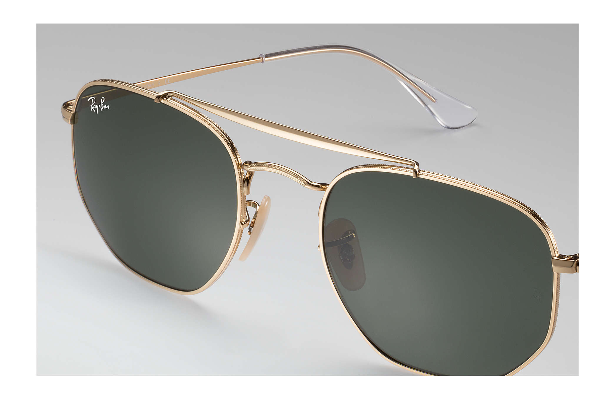 78eee3694c Ray-Ban Marshal RB3648 Gold - Metal - Green Lenses - 0RB364800154 ...