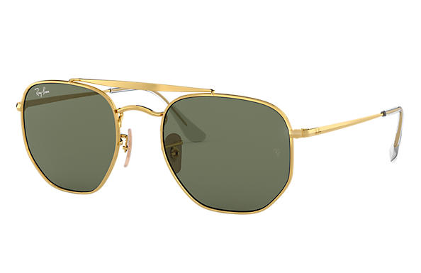 Ray-Ban Sunglasses MARSHAL Polished Gold with Green Classic G-15 lens