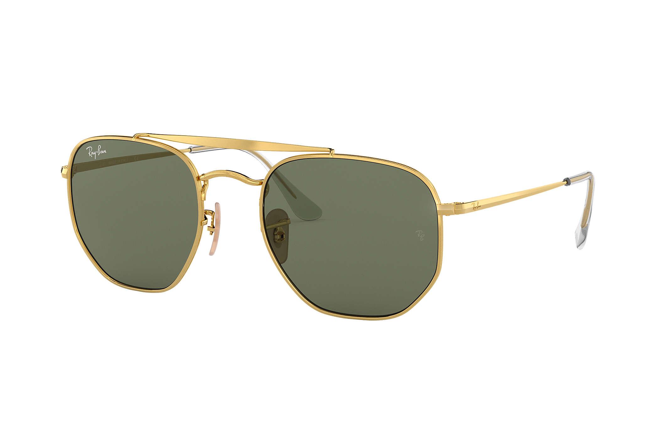 8f90c448f9318 Ray-Ban Marshal RB3648 Gold - Metal - Green Lenses - 0RB364800154 ...