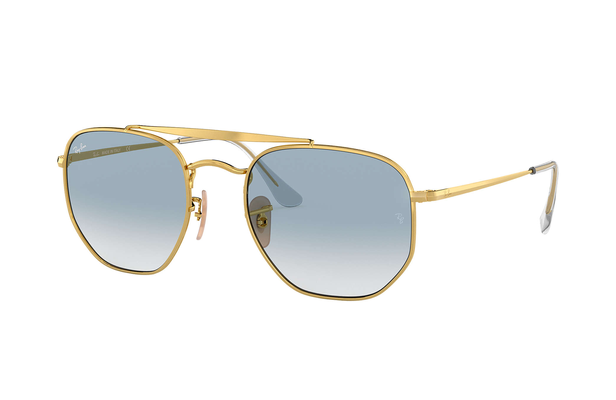 Ray Ban Ray-Ban 0RB3648 THE MARSHAL 001 Gold Gr. 51/21 (mit Sehstärke) UKBDNV