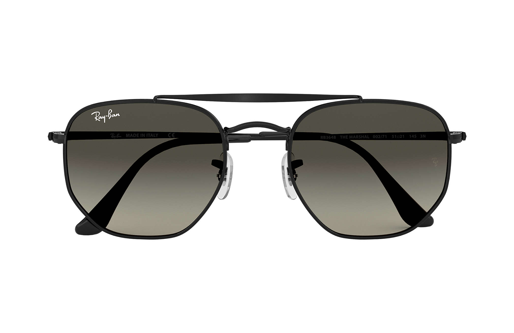74fac005f88fa Ray-Ban Marshal RB3648 Black - Metal - Grey Lenses - 0RB3648002 7154 ...