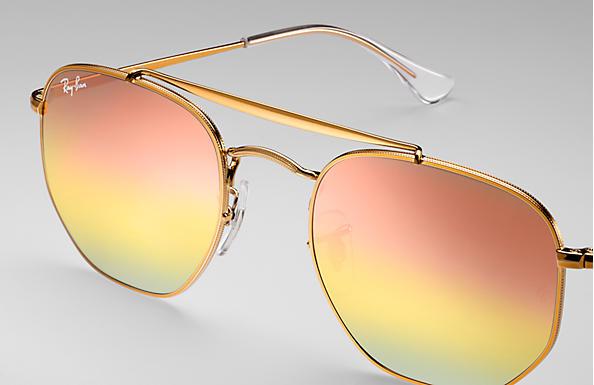 Ray-Ban Marshal RB3648 Bronze-Copper - Metal - Pink Lenses ... fb8f0140eb4