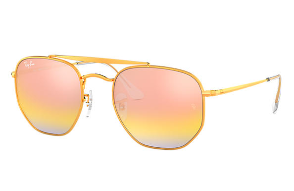 Ray-Ban Sunglasses MARSHAL Bronze-Copper with Pink Gradient Mirror lens