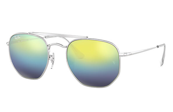 0593d680b01 Ray-Ban Marshal RB3648 Silver - Metal - Blue Lenses - 0RB3648003 ...