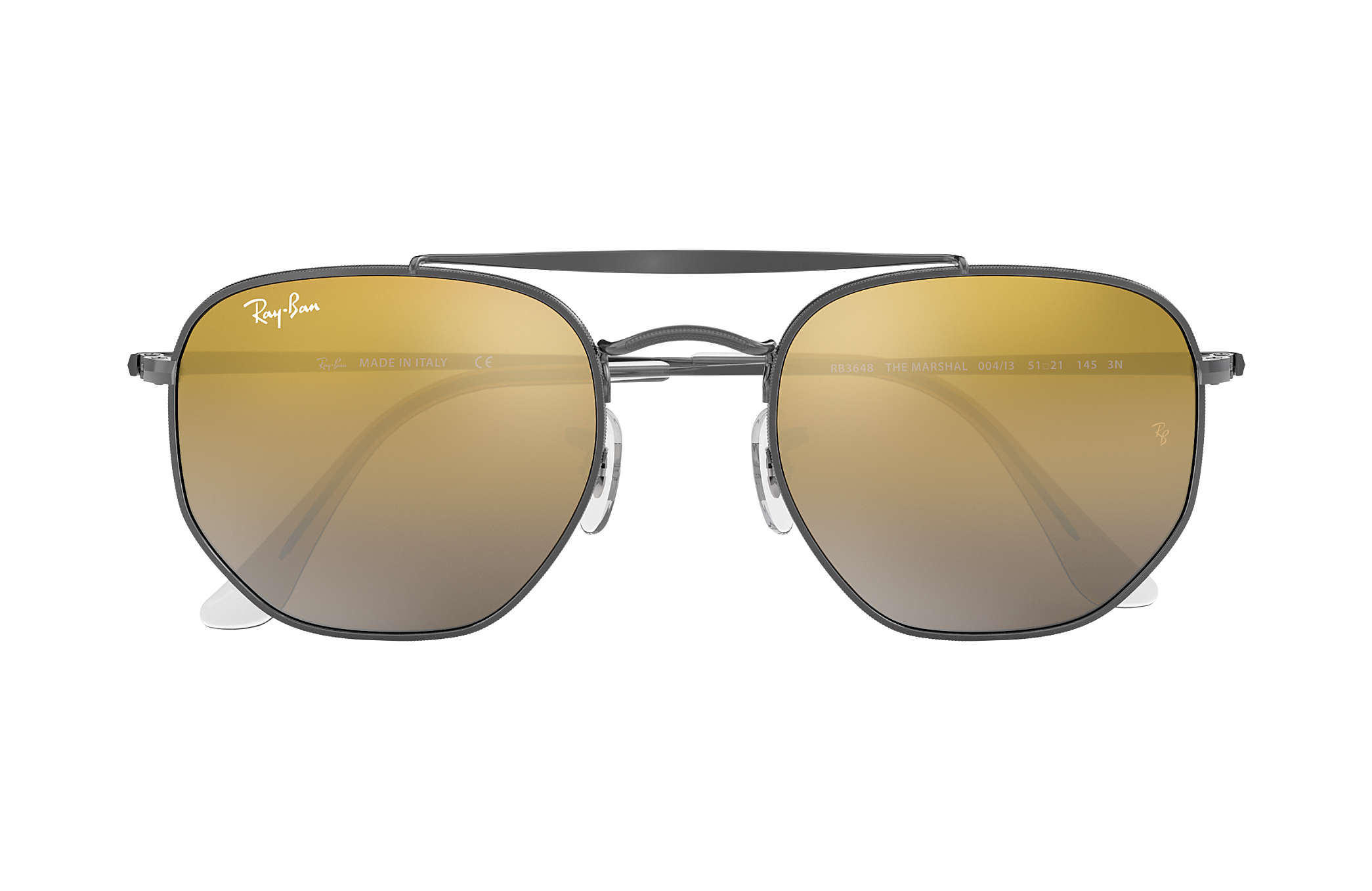 Ray Ban Ray-Ban 0RB3648 THE MARSHAL 004/I3 Gunmetal Gr. 54/21 (mit Sehstärke) wznkDoN7