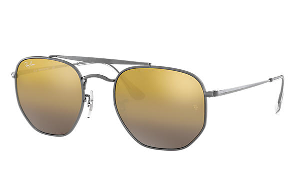 Ray-Ban Sunglasses MARSHAL Gunmetal with Brown Gradient Mirror lens