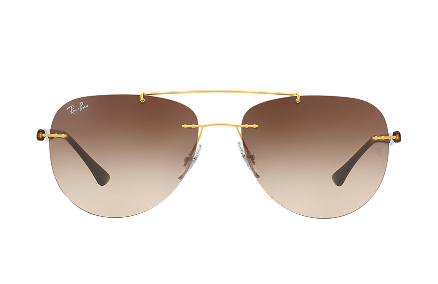 Ray-Ban RB8059 Gold with Brown Gradient lens