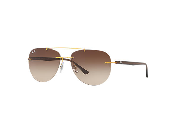 Ray-Ban 0RB8059-RB8059 Or; Marron SUN