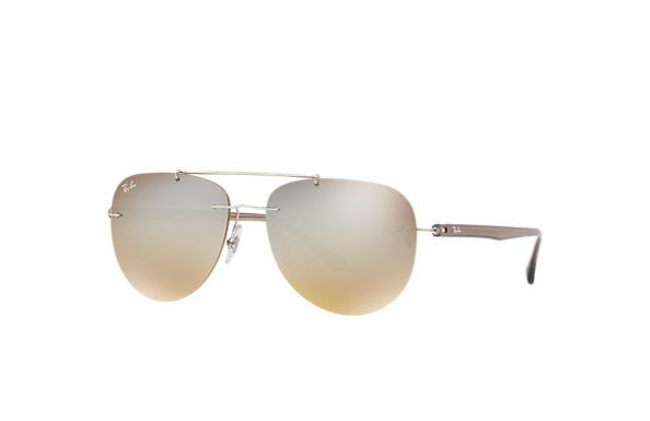 Ray-Ban 0RB8059-RB8059 Silver; Brown SUN