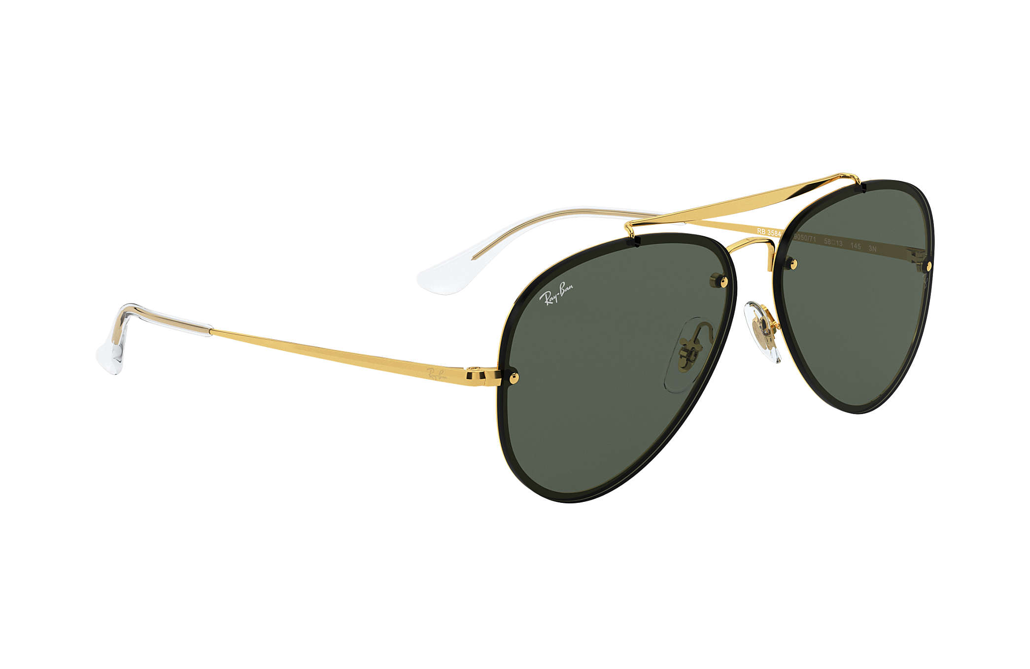 Ray-Ban 3548N Blaze Aviator Gold Dark Green iSLrN