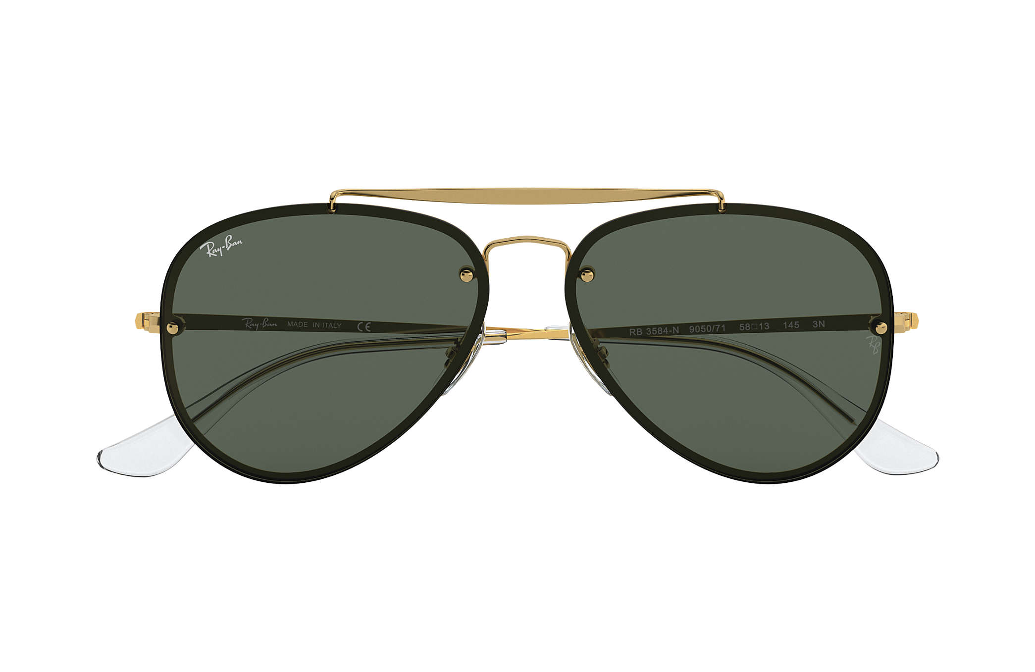 c200282635507 Ray-Ban Blaze Aviator RB3584N Gold - Steel - Green Lenses ...