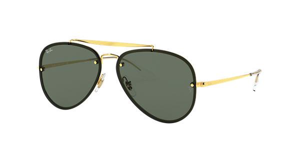 Ray-Ban Blaze Aviator RB3584N Gold - Steel - Green Lenses -  0RB3584N90507158   Ray-Ban® USA 8eb92c348c