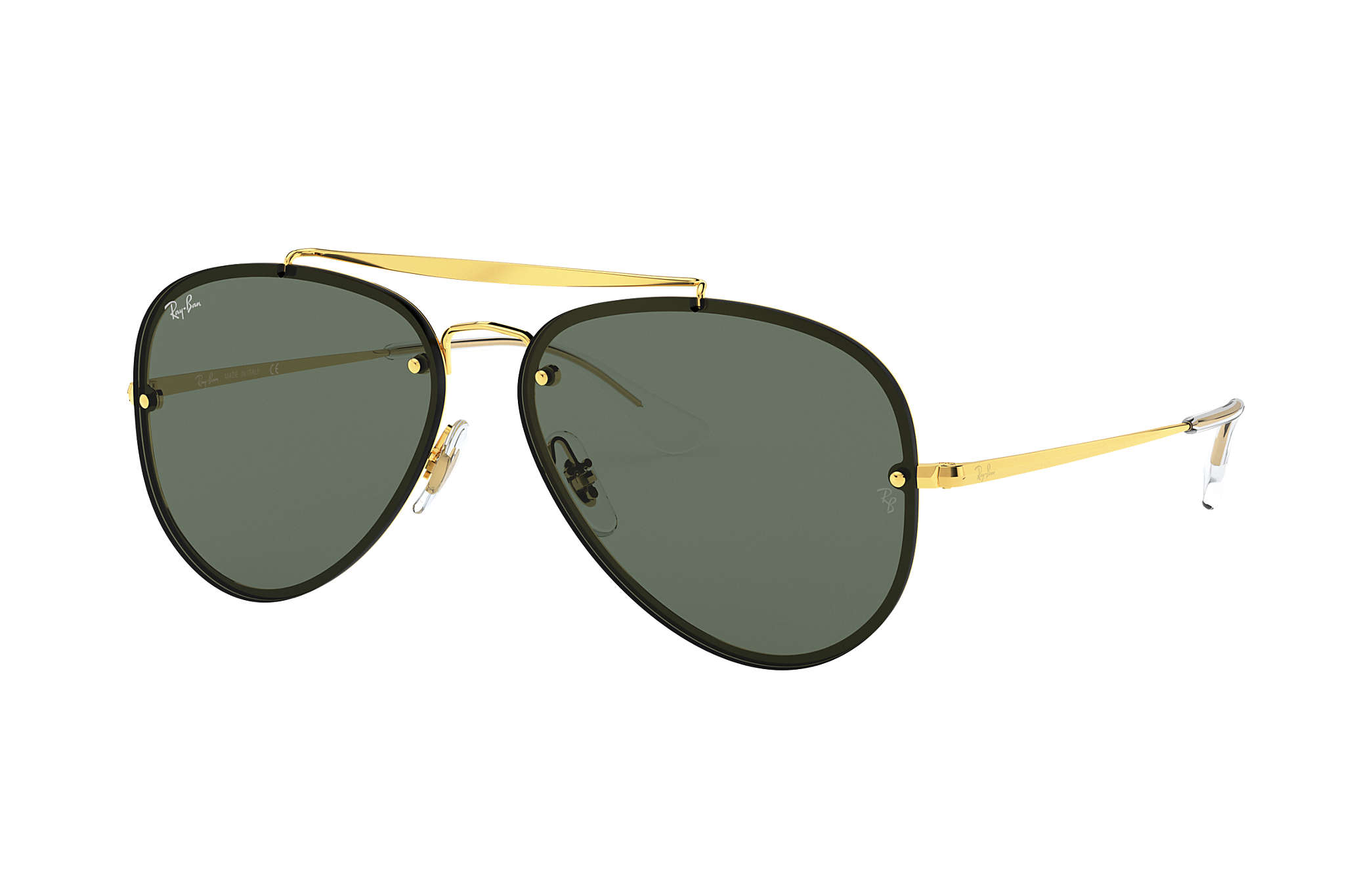684d8c741b6e6 Ray-Ban Blaze Aviator RB3584N Gold - Steel - Green Lenses ...